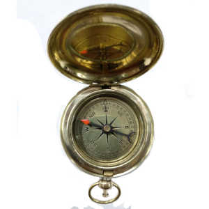 Brass Push Dial Compass Size 2""