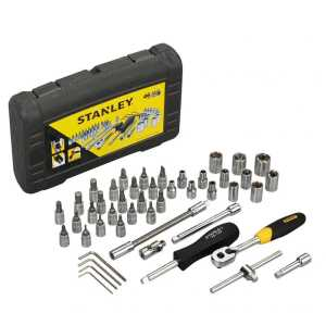 STANLEY SOCKETS & ACCESSORIES - 46 PCS 1/4 DRIVE METRIC SOCKET SET