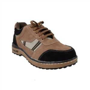 NEOSAFE RANGER BROWN PVC LEATHER SAFETY SHOES STEEL TOE