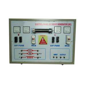 Control Panel of shunt generator (DC)