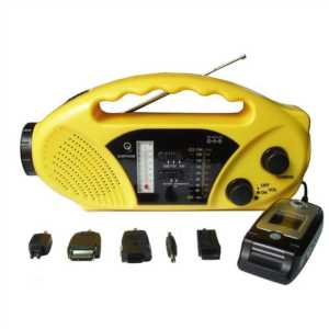 SOLAR RADIO WITH MOBILE CHARGER TORCH