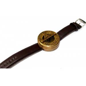 Brass Sundial Wrist Compass