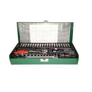 TS TUFTUL 1/4 Inch Drive Socket Set with Metal Box Green 46 Pcs TUF1003