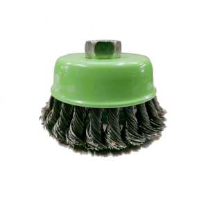 """TUFTUL 4"""" X 470 GM TWISTED WIRE CUP BRUSH FOR REMOVING RUST,PAINT,AS WELL AS FOR POLISHING"""