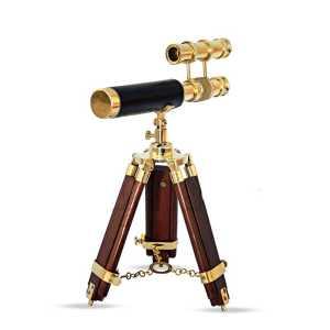 BELLSTONE DOUBLE BARREL BRASS TELESCOPE