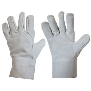 Short Leather Safety Gloves