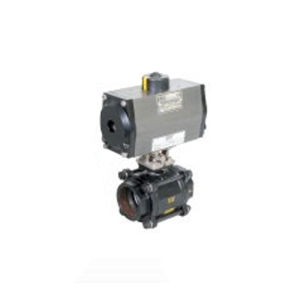 PNEUMATIC ACTUATOR DOUBLE ACTING OPERATED 2 WAY CAST STEEL BALL VALVES SCREWED END