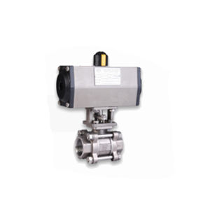 PNEUMATIC ACTUATOR DOUBLE ACTING OPERATED 2 WAY STAINLESS STEEL BALL VALVES SCREWED END