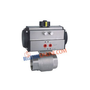 "ISO 5211 PNEUMATIC DOUBLE ACTING ACTUATOR OPERATED ""FORGED"" TYPE REDUCE BORE 2 WAY SS 316 BALL VALVES WITH HOLLOW BALL"