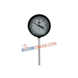 "JTM DIAL SIZE 6"" VERTICAL THERMOMETER BI-METAL TYPE"