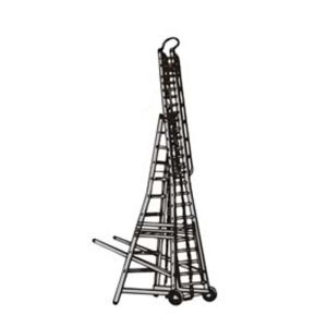 BELLSTONE ALMUINIUM ECONOMICAL TELESCOPIC WHEELED TOWER LADDER 10/17 FEET