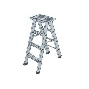 BELLSTONE ALUMINIUM FOLDING LADDER 10 FEET