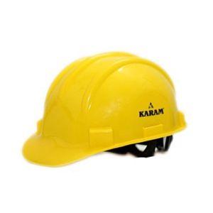 KARAM SAFETY HELMET WITH RACHET YELLOW COLOR