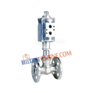 2/2 WAY PNEUMATIC CYLINDER OPERATED SS 304 BODY ON/OFF CONTROL VALVE FLANGED END