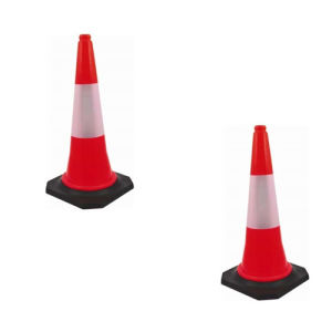 Bhi PVC Safety Cone (Traffic/Parking/Outdoor) (Pack of 2)