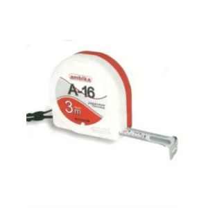 ambika size 3mtr 16mm with clip and card steel measuring tape