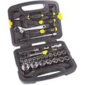 STANLEY MECHANIC TOOLS - 26PC 1/2 DRIVE 12 POINT SOCKET SET