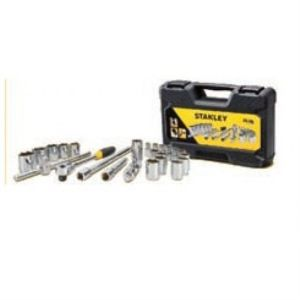 STANLEY SOCKETS & ACCESSORIES - 24 PCS 1/2 DRIVE METRIC SOCKET SET