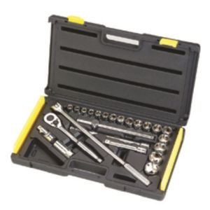 STANLEY MECHANIC TOOLS - 24PC 1/2 DRIVE 6 POINT METRIC SOCKET SET