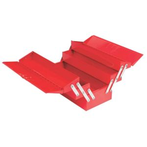 AMBIKA METAL TOOLS BOX WITH COMPARTMENTS SIZE - 525MM = 5 TRAYS