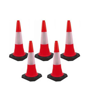 Bhi PVC Safety Cone (Traffic/Parking/Outdoor) (Pack of 5)
