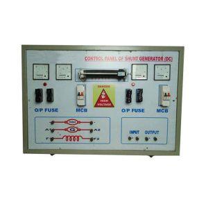 Control Panel of shunt generator (DC)