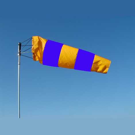 WIND SOCK BLUE AND YELLOW