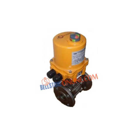 CS BALL VALVES 3 PIECE DESIGN FLANGED ON-OFF TYPE SINGLE PHASE 220V AC OPERATED INVESTMENT CASTING WITH KEY TYPE MANUAL OVERRIDE
