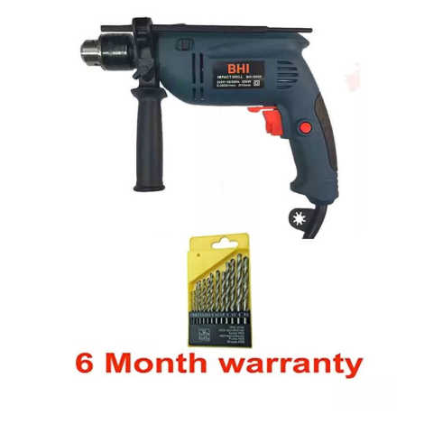 Impact Drill Machine with Reversible Function 650W-13mm (with 13 Bit Set)