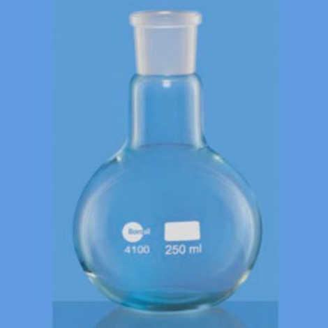 Flasks, Boiling, Florence, Flate Botton, Short Neck, Interchangeable Joint