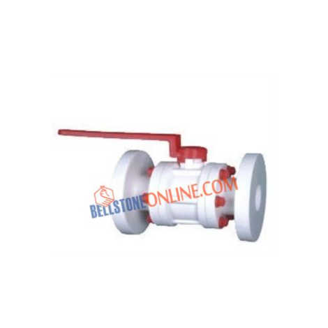 PP BALL VALVE FLANGED ENDS