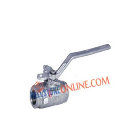 HIGH PRESSURE WOG SERIES SS 304 2 WAY HANDLE OPERATED BALL VALVE SCREWED END