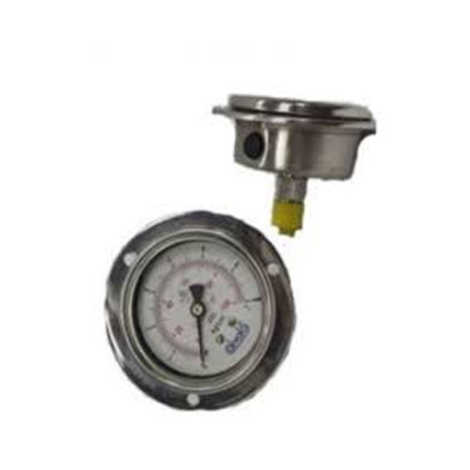 JTM SS BODY PRESSURE GAUGE 100MM LOW RANGE (Back Mounting)