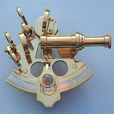 Brass Nautical Sextant Brass Navigation Instruments Slow Motion Mechanism 4 Inch