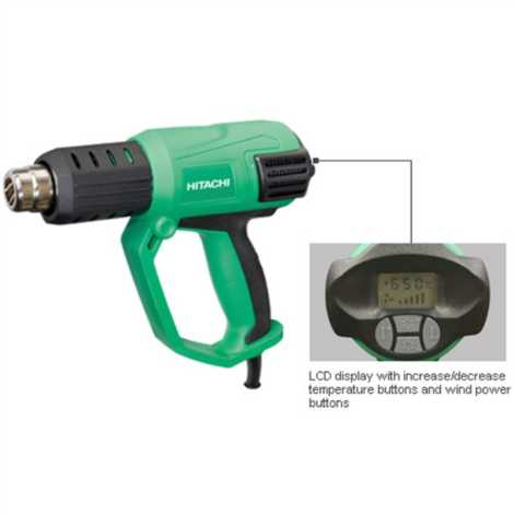 HITACHI RH650V HEAT GUN,2000 W, LCD DISPLAY