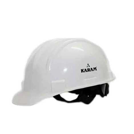 KARAM SAFETY HELMET WITH RACHET WHITE COLOR