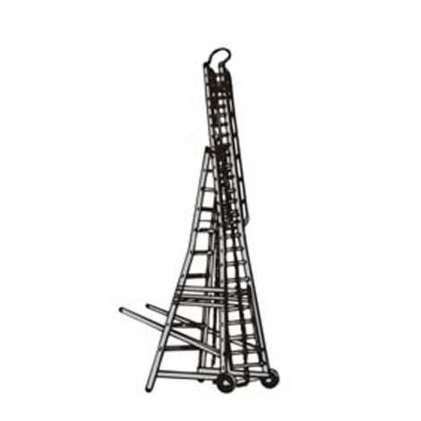 10/17 feet ladder economical telescopic wheeled tower aluminium