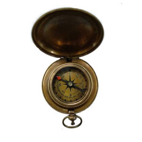 """Brass Push Dial Compass Size 2"""" Light"""