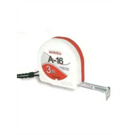 ambika size 3mtr 16mm without clip and sling steel measuring tape