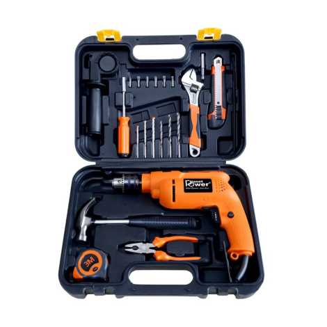 PLANET POWER PTK 700VR TOOL KIT WITH POWERFUL 13MM REVERSE FORWARD IMPACT DRILL
