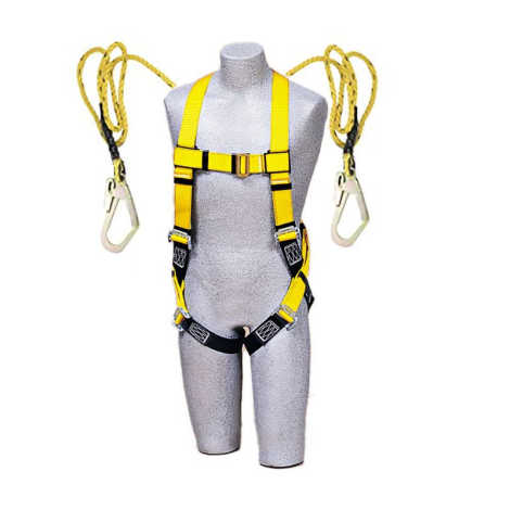 UNISAFE FULL BODY HARNESS DOUBLE SCAFFOLDING HOOK