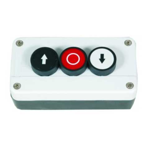 Push button station - poly carbonate fitted with push button
