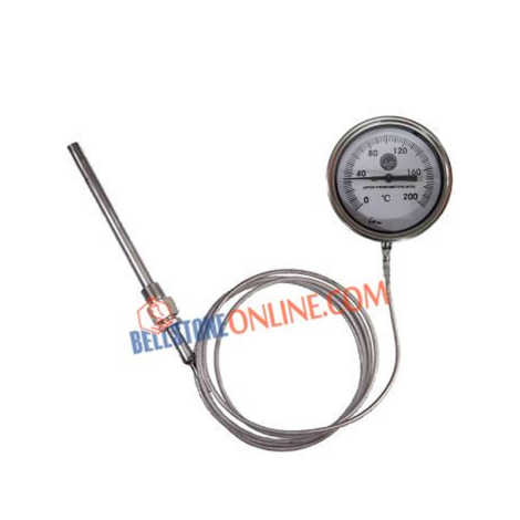 """JTM DIAL THERMOMETER SIZE 4"""" MERCURY IN STEEL"""