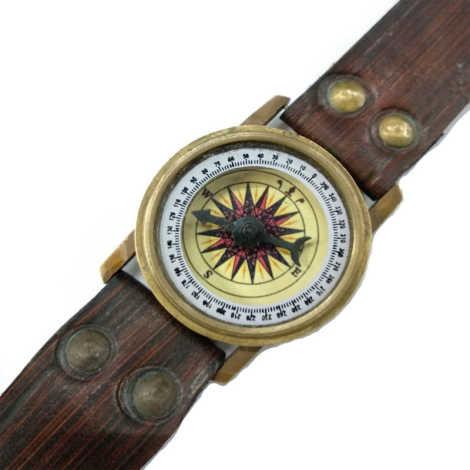 """Brass Wrist Compass Size 2"""""""