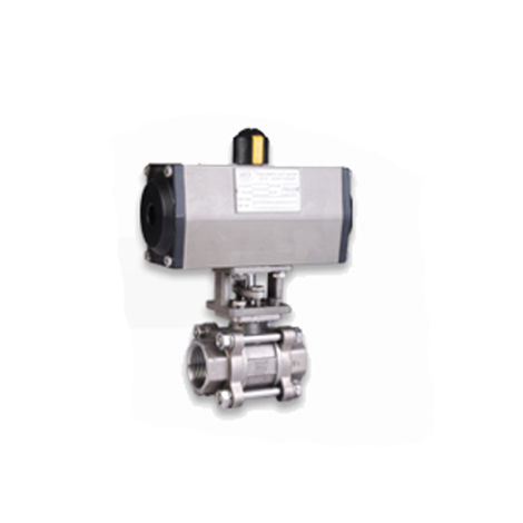 PNEUMATIC ACTUATOR DOUBLE ACTING OPERATED 2 WAY STAINLESS STEEL 316 BALL VALVES SCREWED END