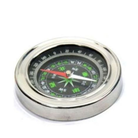 BELLSTONE DIVINE MIRACLES STAINLESS STEEL DIRECTIONAL MAGNETIC COMPASS FOR FENG SHUI / TRAVEL ( BLACK )