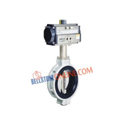 PNEUMATIC ACTUATOR OPERATED ALUMINUM BUTTERFLY VALVE DOUBLE ACTING