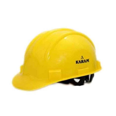 KARAM SAFETY HELMET WITH RACHET YELLOW COLOR