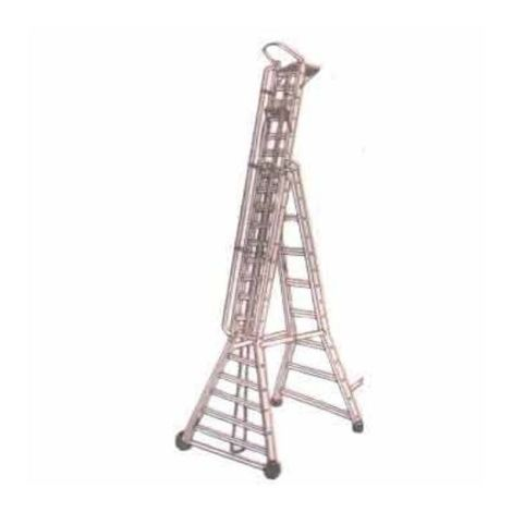 BELLSTONE ALMUINIUM SELF SUPPORTING EXTENTION LADDER 10/17FEET