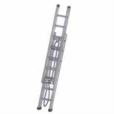 BELLSTONE ALMUINIUM FIRE BRIGADE TYPE WALL SUPPORTING EXTENSION LADDER 20/36 FEET